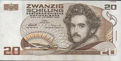 Austria  20/-  1.10.1986  Block H - Z   Circulated Banknote
