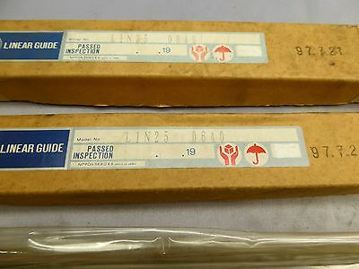 NSK Linear Rail L1N25 0640 Set of 2