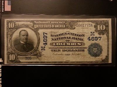 $10 1902 Date Back The Hayden-Clinton National Bank Columbus Ohio Only Db Known!