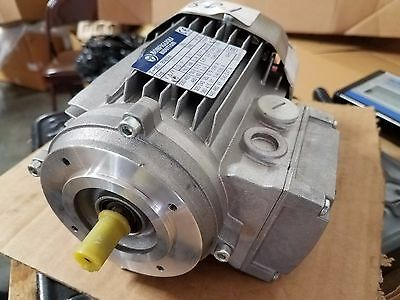 Three Phase 0.25kw 1//3hp Bonfiglioli Motor and Gearbox 47rpm output 18mm Bore