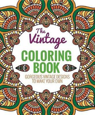 NEW The Vintage Coloring Book By Editors of Thunder Bay Press Paperback