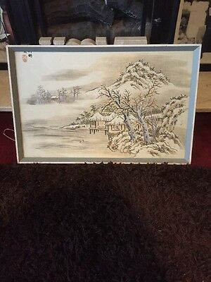 Framed Chinese Silk Picture