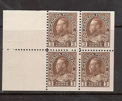Canada #108a Mint Never Hinged Booklet Pane