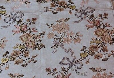 Antique 19thC French Silk Brocade Manufacturer's Sample Fabric~18thC Style &Loom