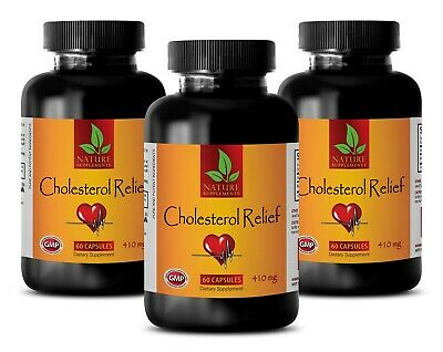 Mood support herbs - CHOLESTEROL RELIEF FORMULA - antioxidant vitamins - 3Bottle