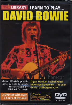 Learn to Play David Bowie Lick Library Guitar DVD