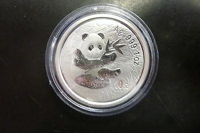 2000 China Silver Panda 10 Yuan In Originalcapsule #6