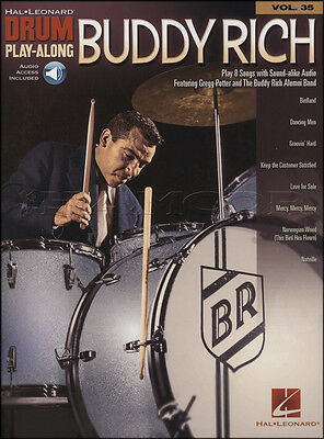Buddy Rich Drum Play-Along Sheet Music Book with Audio Access Birdland Nutville