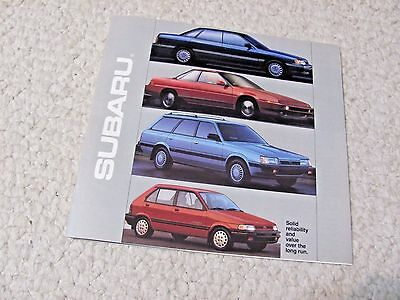 1990 Subaru (Usa) Sales Brochure..