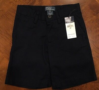 Ralph Lauren Polo Toddler Boy Navy Blue Chino Shorts 4T NWT NEW