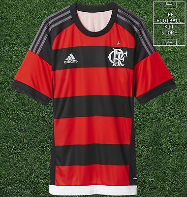Flamengo Home Shirt  - Official Adidas Rare Brazil Football Shirt - Mens