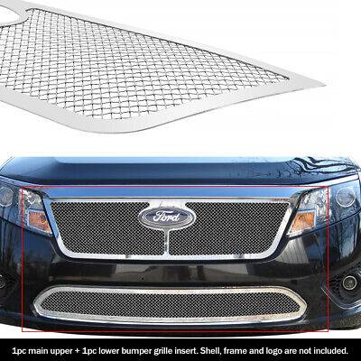 SS 1.8mm Mesh Grille Combo For 10-11 2011 Ford Fusion