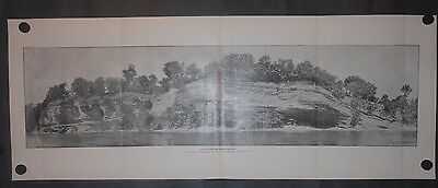 Devils Promenade Indian Territory Oklahoma 1893 Photolithograph Geological View