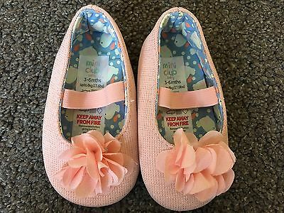 Baby Girl Flower Ballet Pumps Shoes 3-6 Months Mini Club