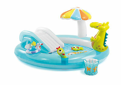 Intex 57431 Inflatable pool for children Alligator Play Center with slide Gi