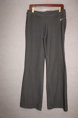 NIKE Dri Fit Womens LARGE 12-14 quality athletic pants BLACK yoga FITNESS