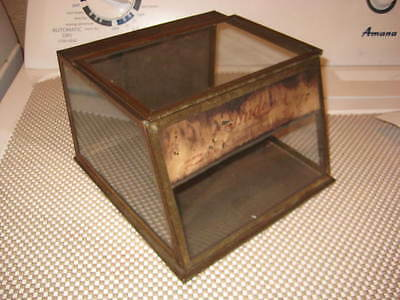 Vintage Candy Store Countertop Display Case Tin Metal & Glass Advertising