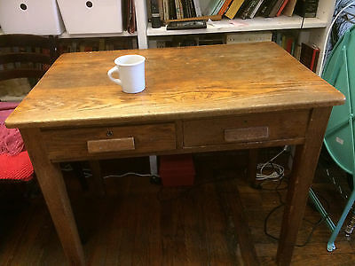 Wooden Writing Desk Vintage