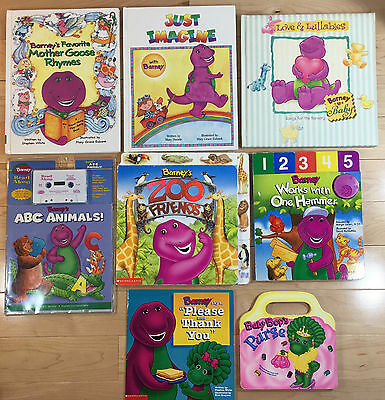 Lot Of 8 Barney Picture Board Books Soundlift A Flap1 W Tape