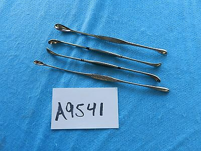 Sklar Weck Surgical Double Ended Gallstone Scoops Lot Of 4