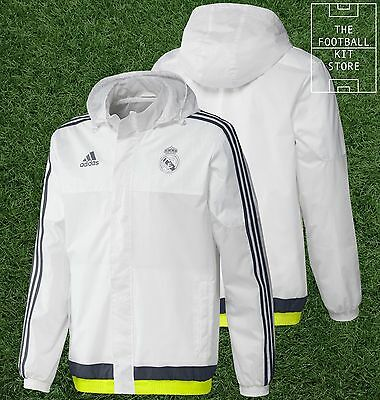 Real Madrid All Weather Jacket - Official Adidas Football Training - All Sizes