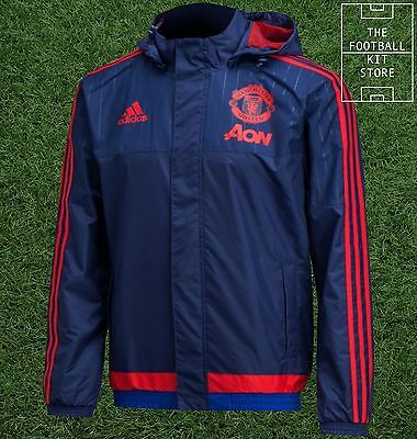 Man Utd All Weather Jacket - Official Adidas Football Training - All Sizes