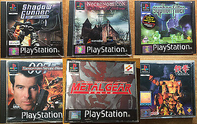 Lotto 6 giochi Sony Playstation 1 Ps1 PsOne PSX