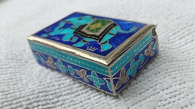 sterling silver and enamel pill/snuff box
