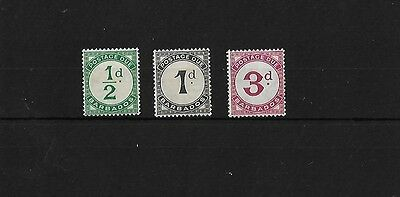 Barbados 1934-47 Postage Dues Mounted Mint, Sgd1/3, Cat £21