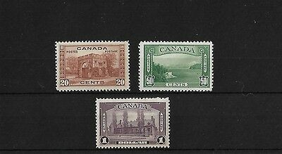 CANADA 20c TO $1 MOUNTED MINT, SG349/51, CAT £93