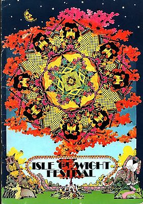 Jimi Hendrix / The Doors / The Who 1970 Isle Of Wight Festival Program / Ex 2 Nm