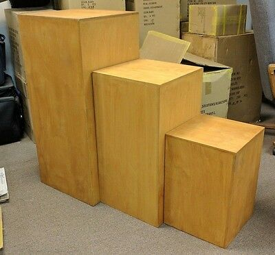 Beautiful Wooden Custom Display Stands Trade Show Booth Stacking Nesting Boxes