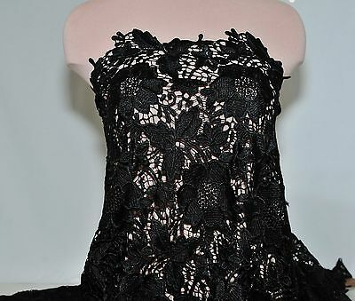 Guipure Lace Fabric Black   52 Inches.. By The Yard /pageant Formal Dress