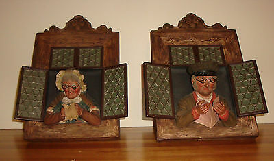 Pair Of Antique Wall Plaques