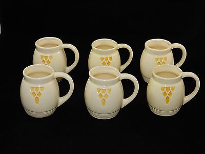 Robinson Ransbottom Pottery Co RRPCO Roseville Cream & Yellow Mugs Cups RARE