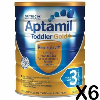 6x Karicare Aptamil Gold+ Step 3 900G - toddler powder EX06/17