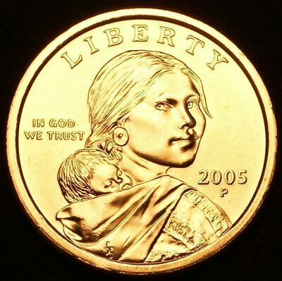 "2005 P Sacagawea Dollar US Mint Coin in ""Brilliant Uncirculated"" Condition"
