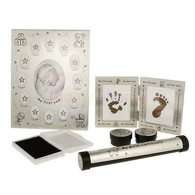 MagiDeal Christening Baby Keepsake Gift Set Boy Girl Photo Hand Foot Prints