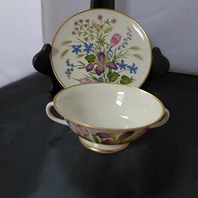 "Franciscan ""MARIPOSA"" pattern c.1940's Bouillibasse bowl and saucer"