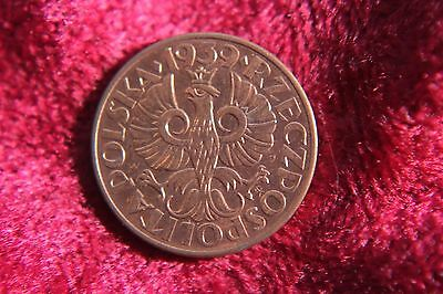 Poland 2 Grosze 1939 BU Red Stunning Old Coin K