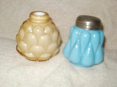 Pair Antique Glass Salt Shaker - Consolidated Glass Co.(?)