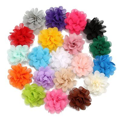 20pcs/lot Mixed Baby Kids Children Girls Chiffon Hair Clip Alligator Hairpins
