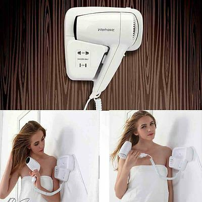 Customizable logo with socket home hotel bathroom with hair dryer wall mounted