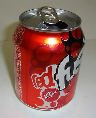 Small 8oz Red Fusion Dr Pepper Soda Can