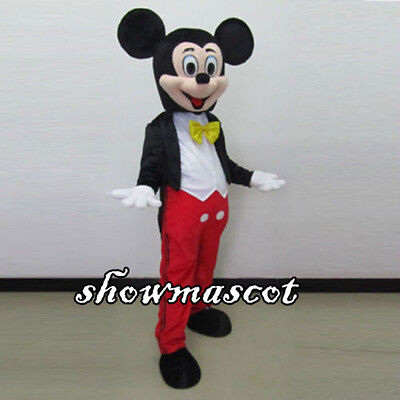 Hot  Mickey Mouse Adult Mascot Costume Party Clothing Fancy Dress Suit