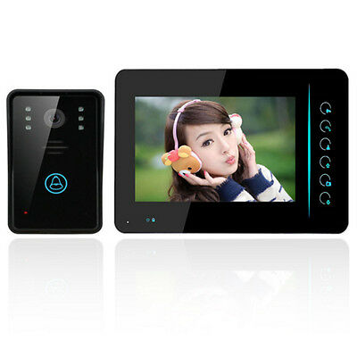 "7"" TFT Touch Wireless Video Door Phone Doorbell IR Camera 1-Monitor Intercom US"
