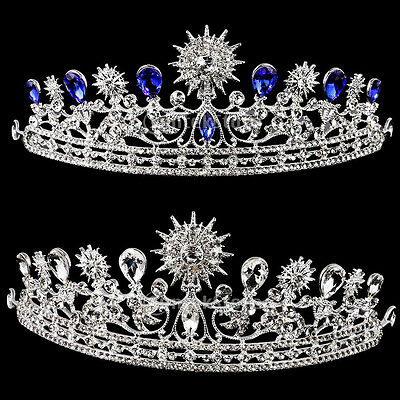 Wedding Bridal Prom Tiara Crystal Diamante Sunflower Crown Headband Headpiece