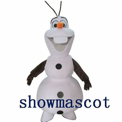 New Adult Olaf Snowman Mascot costume Fancy Dress Halloween Party Suit Gift
