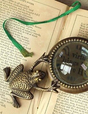 Victorian Trading Co Polliwog Magnifier Frog Bronze Magnifying Glass