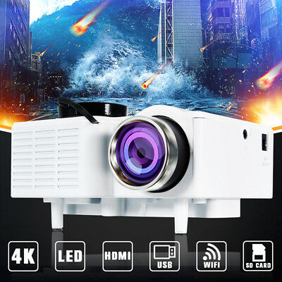 1080P Full HD Mini LED Projector Multimedia Home Theater Cinema AV VGA USB HDMI